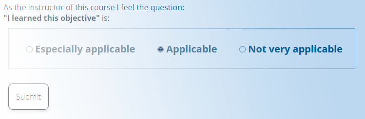 Partial screenshot showing SmartEvals' question applicability interface